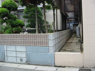 高いブロック塀をカットして軽量化