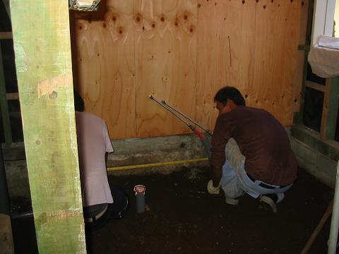 浴室、新規トイレ土間コンクリート工事