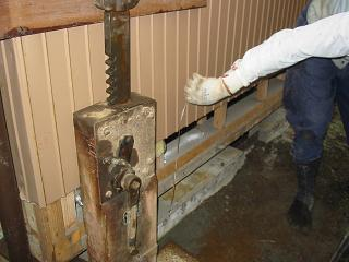 液状化沈下修正工事
