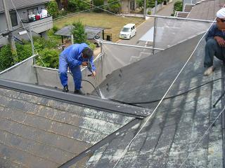 屋根洗浄工事
